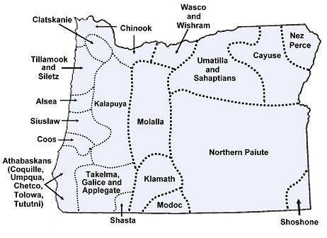 Map of Oregon's native tribes - there before the Bundy ranchers
