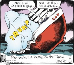rearranging the iceberg on the titanic toles trump