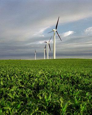 Iowa wind turbines by Warren Gretz NREL
