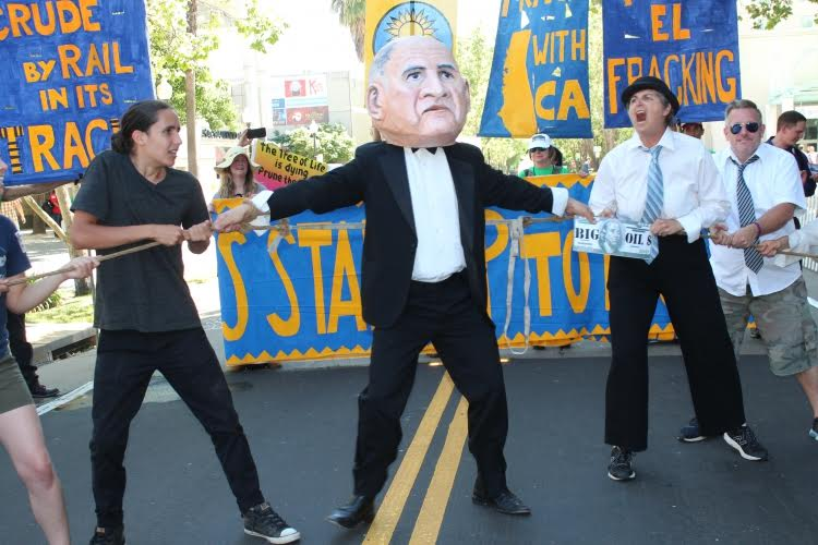 tug of war between the people and big oil for Jerry Brown's soul
