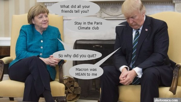 merkel vs trump paris climate agreement