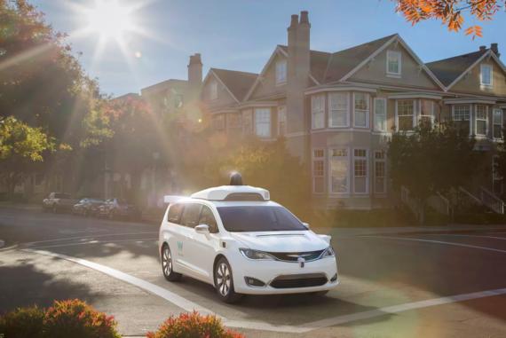 self-driving car: chrysler's Waymo Van