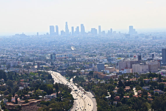 LA Smog from internal combustion vehicles