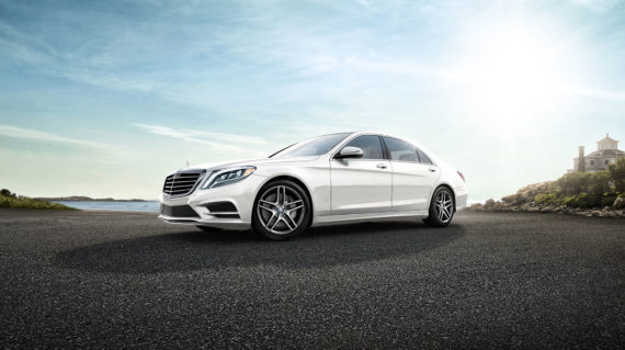 Mercedes S500e electric vehicle