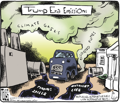 Trump Era Emissions - Replacing Alt Fuels with Alt Facts - cartoon 2017.01.31 toles