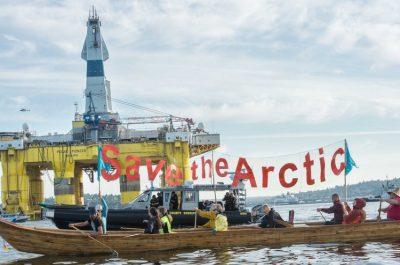 Greenpeace vs Shell oil arctic oil drilling