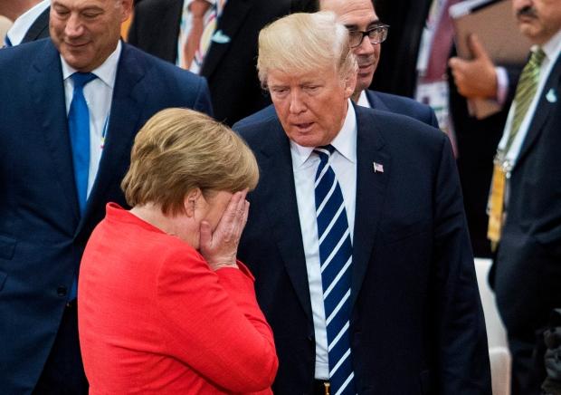 trump and merkel at G20