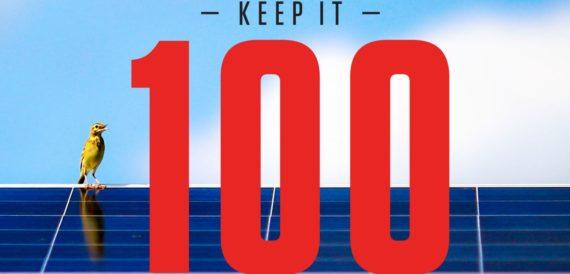 Bill McKibben's Keep It 100 campaign for 100% renewable energy