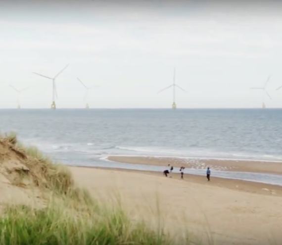 Wind energy farm off the coast of Trump's scottish golf course