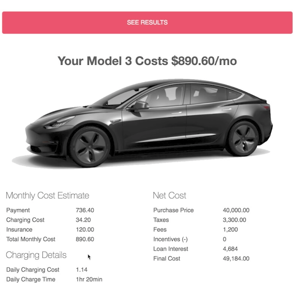 want a tesla model 3 this price calculator will tell you how much it 39 ll cost you red green. Black Bedroom Furniture Sets. Home Design Ideas