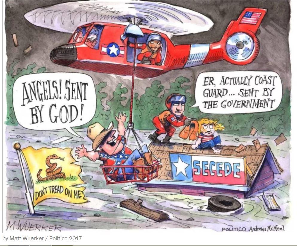 matt weurker hurricane harvey cartoon politico