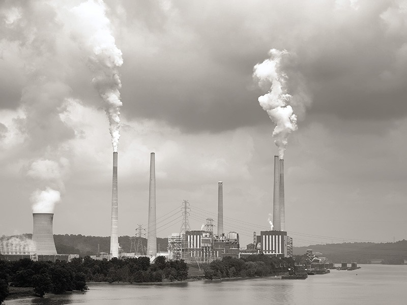Coal Plant on the Ohio River by Anne Kitzman