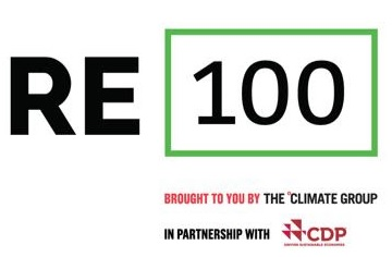 RE 100 for 100% renewable energy