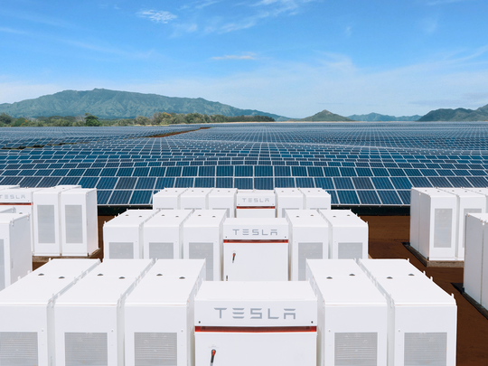 Tesla powerpacks and solar