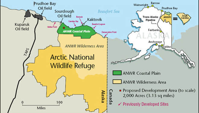 arctic national wildlife refuge map ANWR