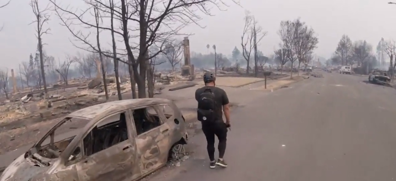 Coffey Park, Santa Rosa. Screencap from video