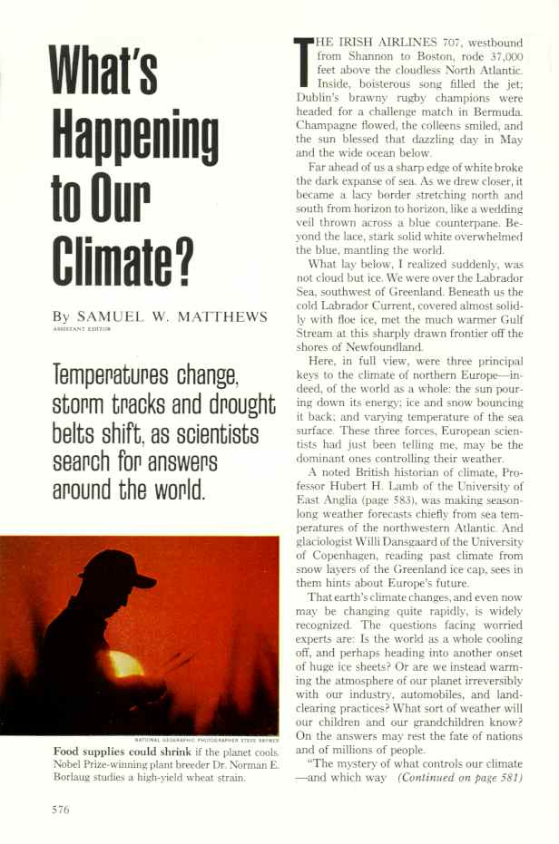 national geographic 1976 article about climate change