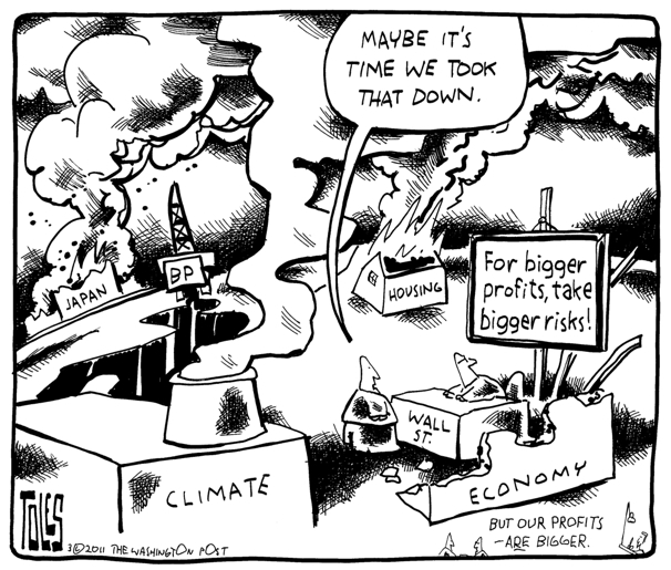 Tom Toles climate change risky business