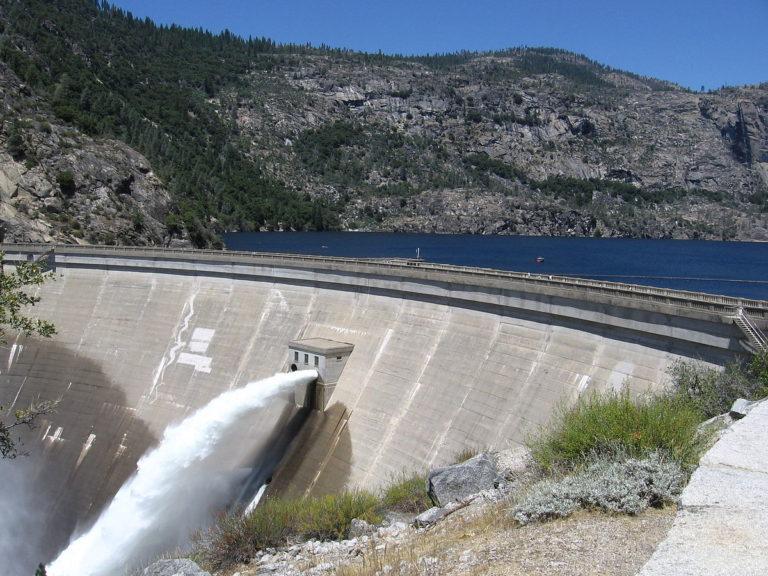 OShaughnessy dam at Hetch Hetchy, california