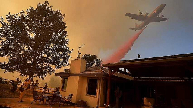 California National Guard photo - fighting the Carr Fire, California