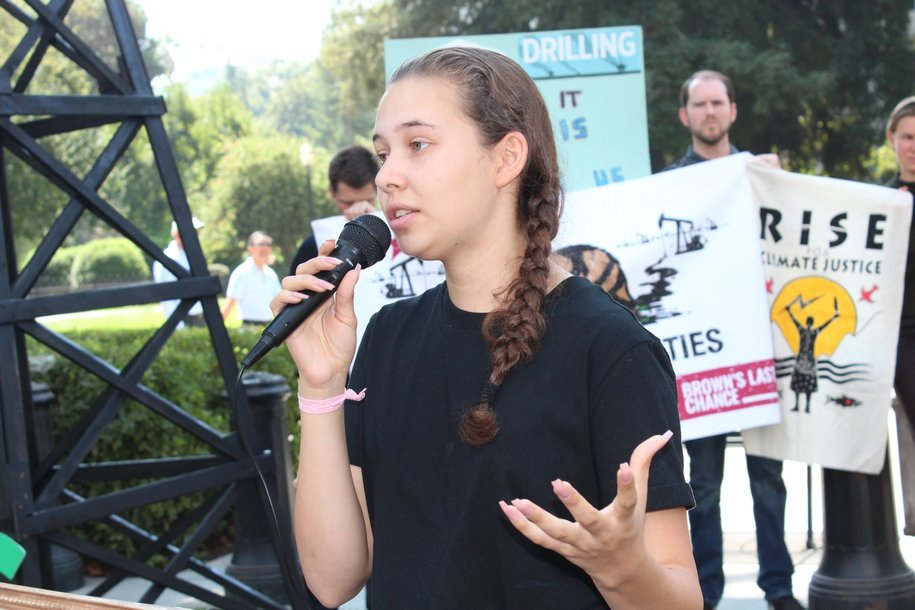 Brown's Last Chance sit-in against California oil drilling