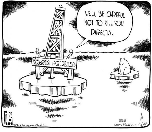 Tom Toles climate change arctic drilling