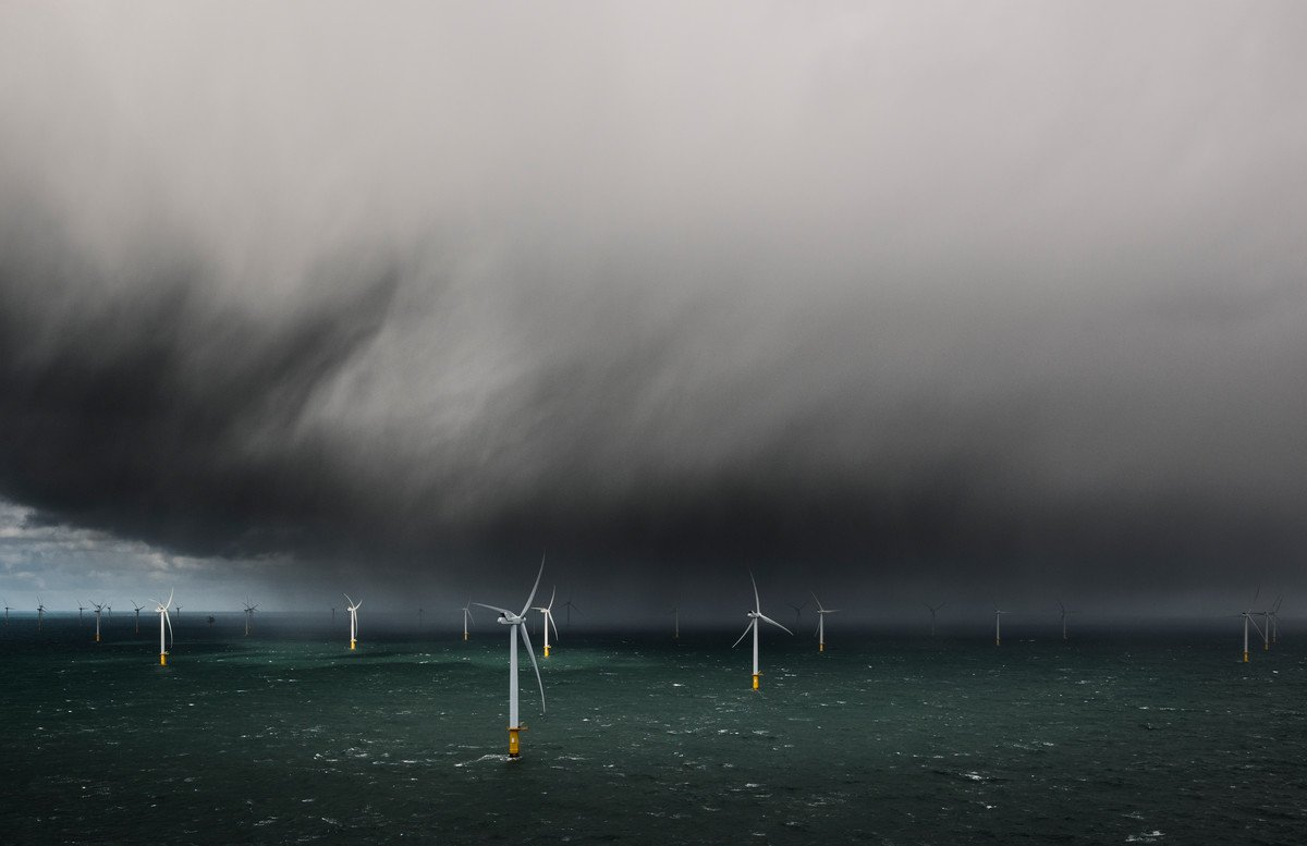 wind turbines in storm image by MHI Vestas