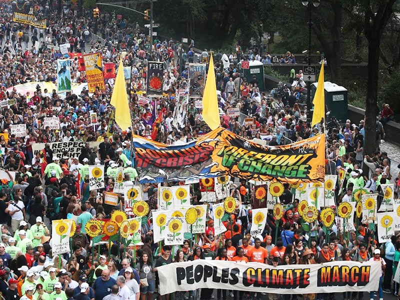People's Climate March, NYC - election 2018