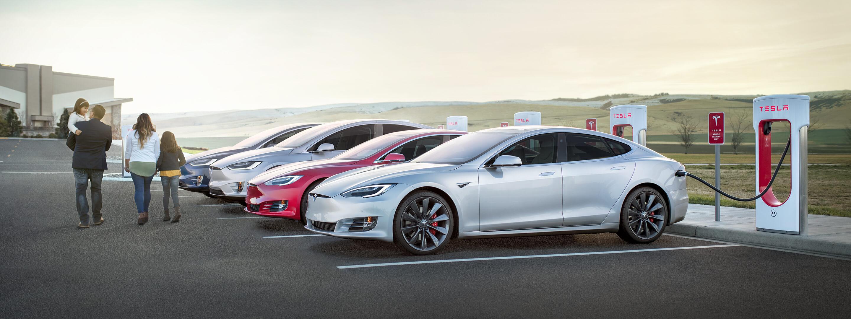 Tesla charging supercharger