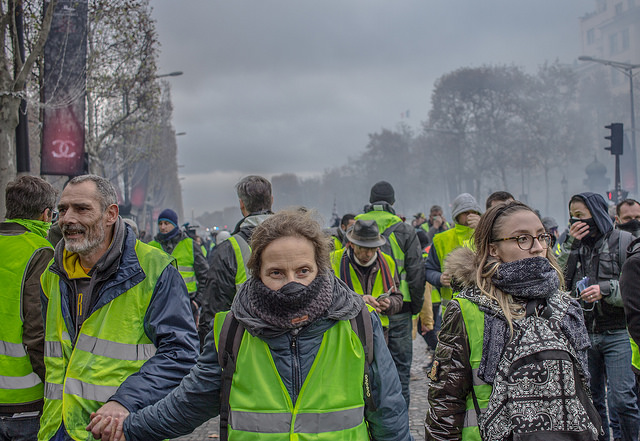 Gilets jaunes/ Yellow Vest protests in Paris NOT against climate change action