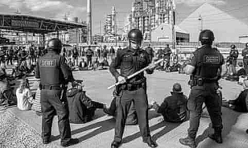 Protest At BP Refinery In Indiana Credit: Thom Krystofiak