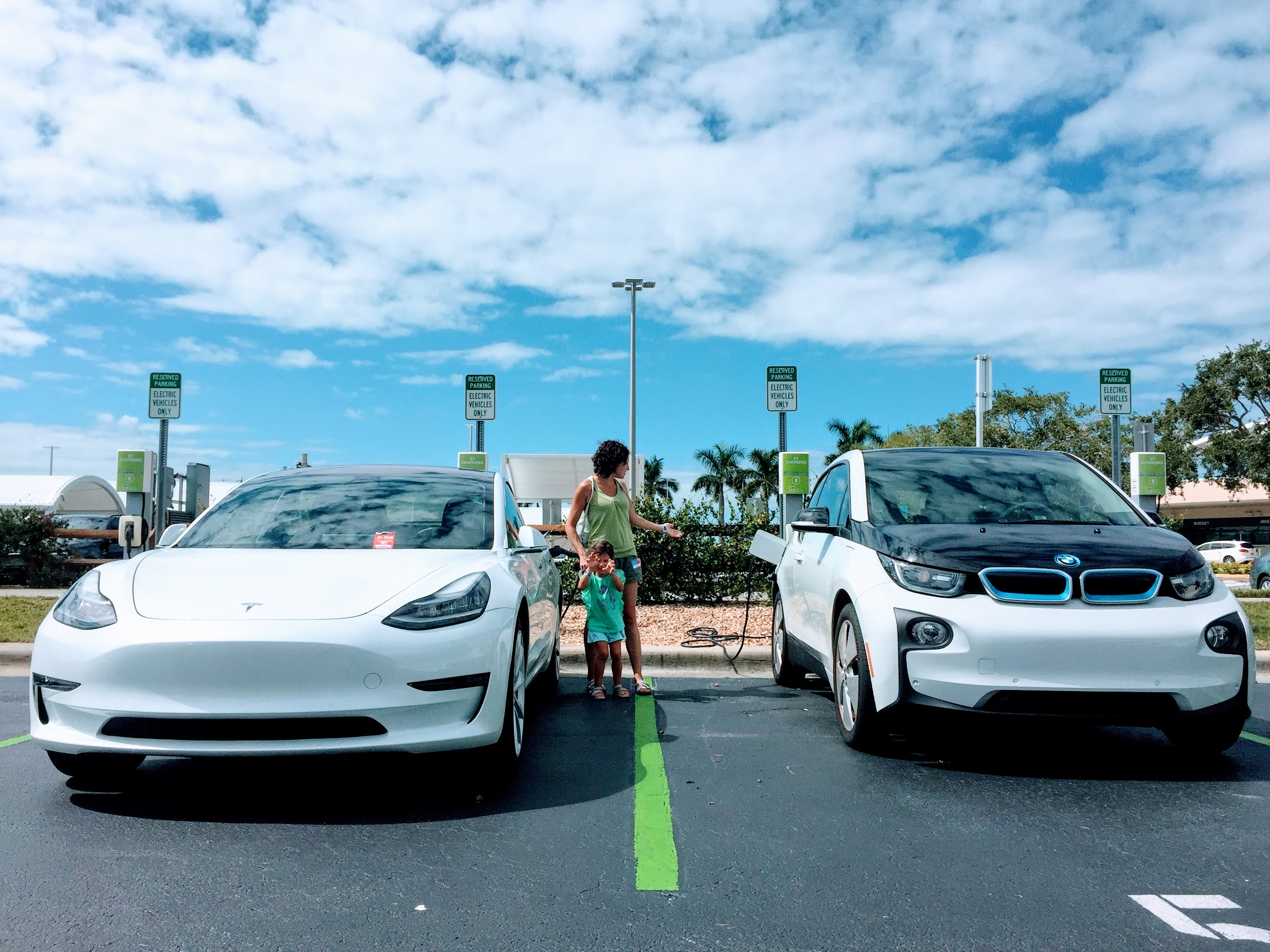 BMW i3 vs. Tesla Model 3
