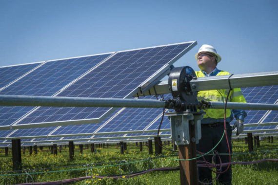 solar panels from Duke Energy, North Carolina