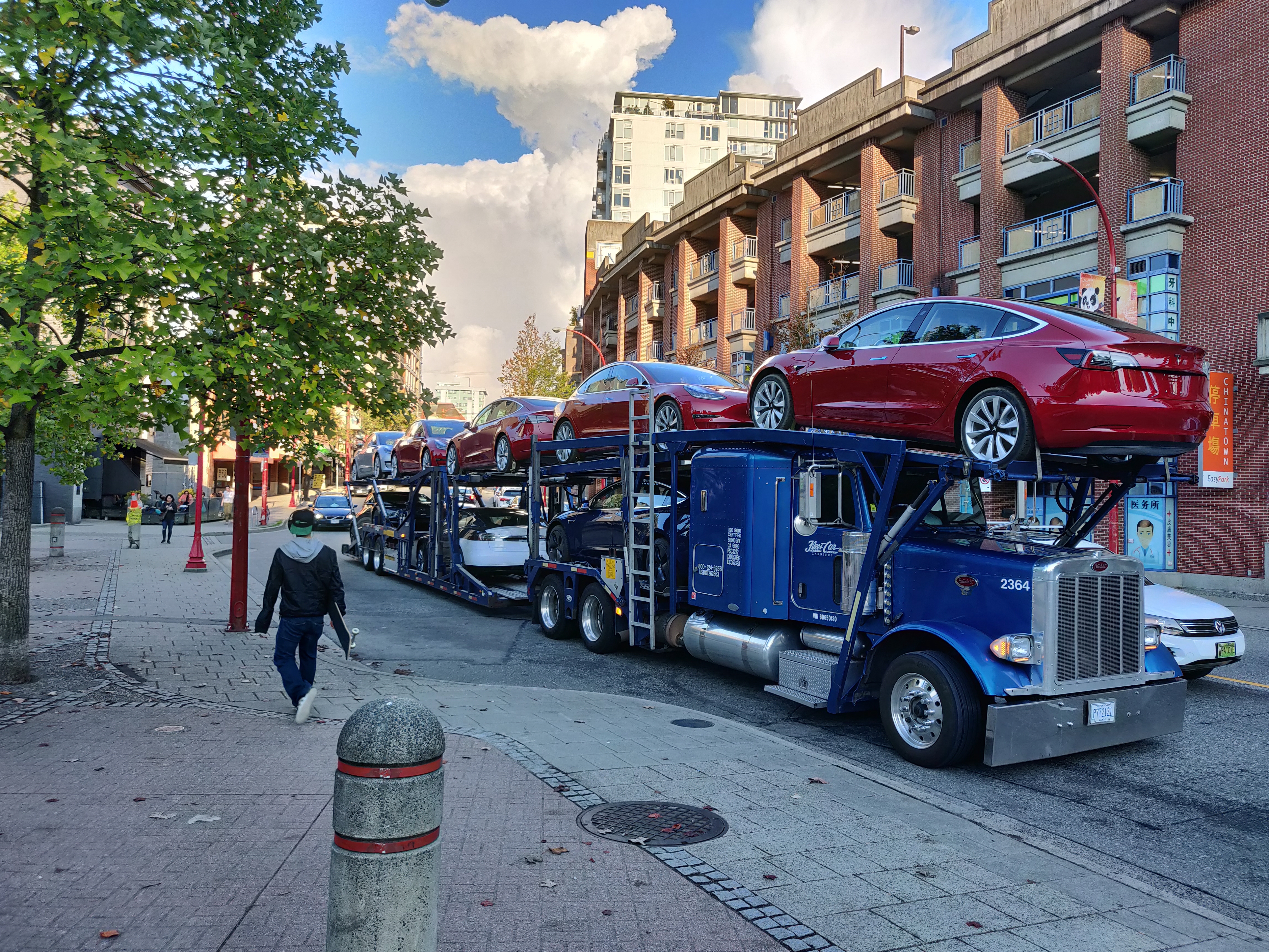 tesla model 3 deliveries in Vancouver, Canada