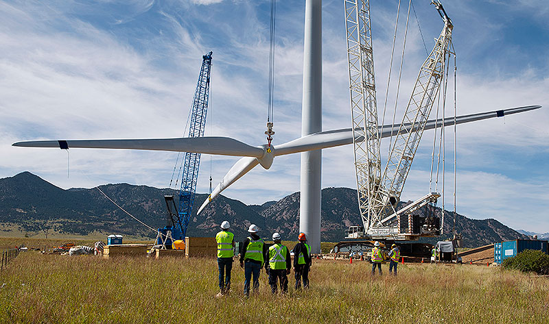 UK onshore wind energy installation