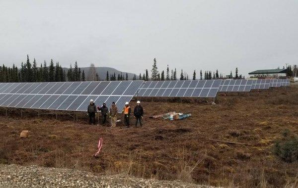 solar panels powering alaska