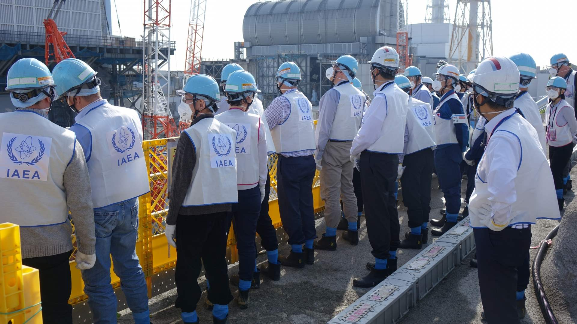 Members of the IAEA's 4th review mission of Japan's plans to decommission Fukushima Daiichi Nuclear Power Station, 7 November 2018