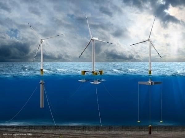 Offshore windfloat structuresby Scott Bauer, NREL