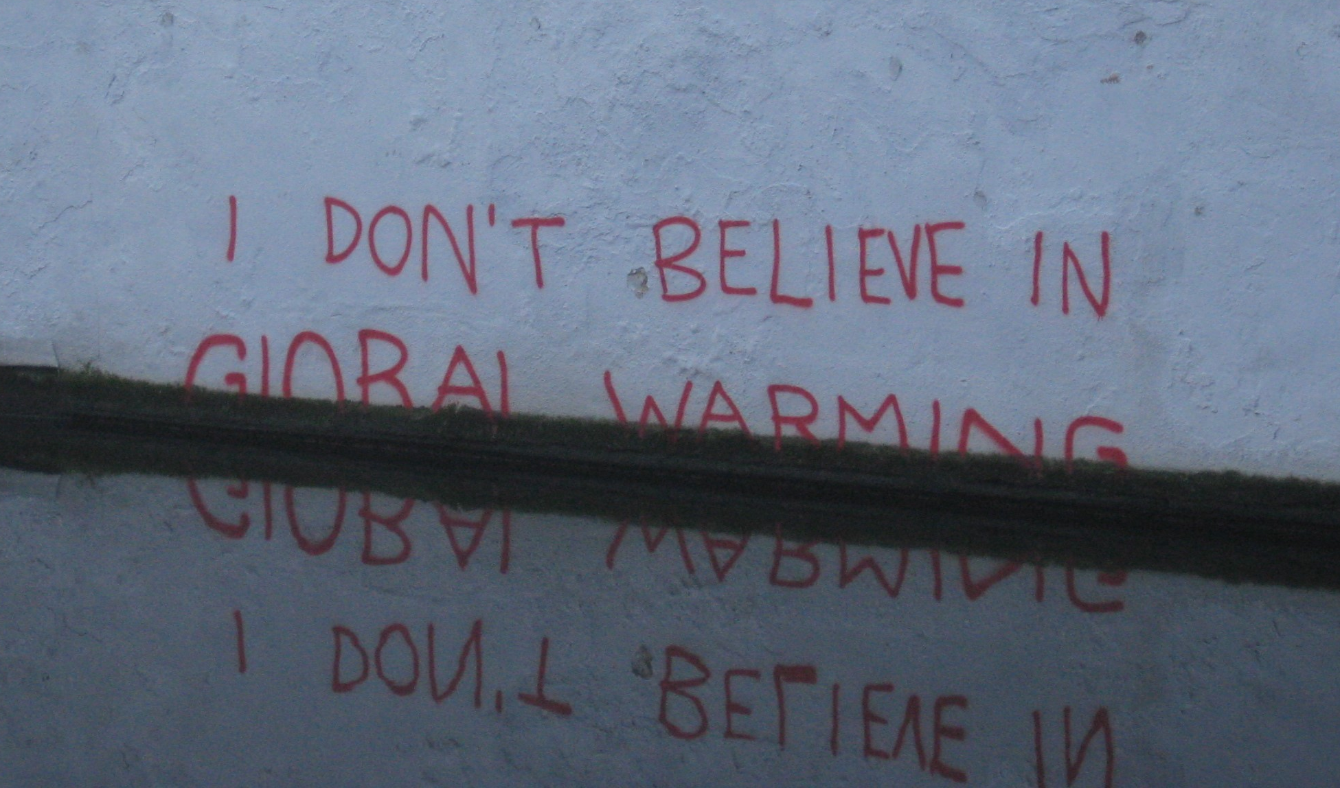 don't believe in global warming and climate change