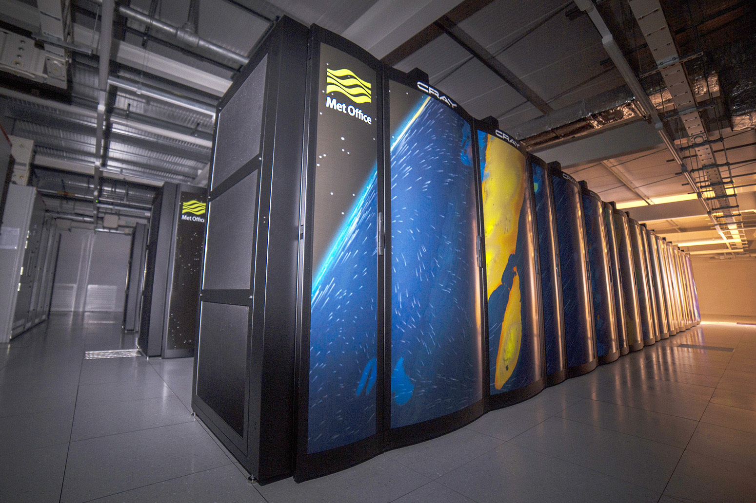 The Cray XC40 supercomputer used by Met Office climate scientists. Credit: Met Office.