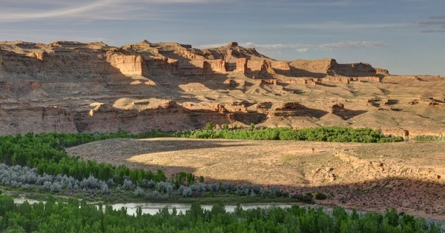 The White River, near the proposed rights-of-way for commercial oil shale project in Utah.