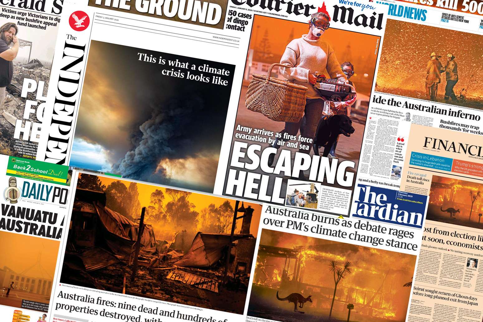 australia wildfires carbon brief media roundup climate change