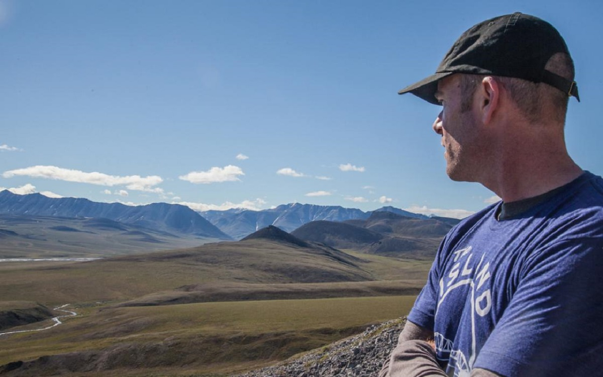 Michael Brune in the Arctic National Wildlife Refuge - Photo courtesy of Micah Baird