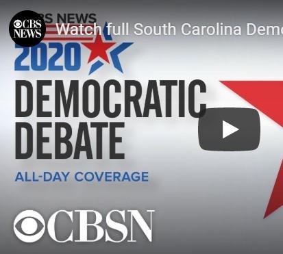 Election 2020 Democratic Presidential Candidates' Debate in South Carolina