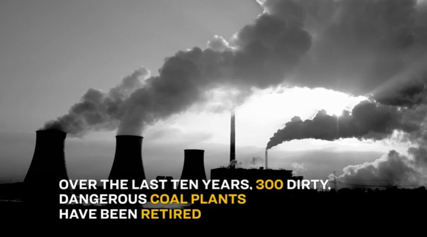 300 dirty coal plants shut down in 10 years
