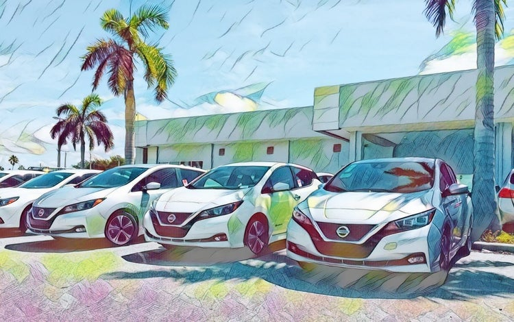 Nissan Leaf EV dealer