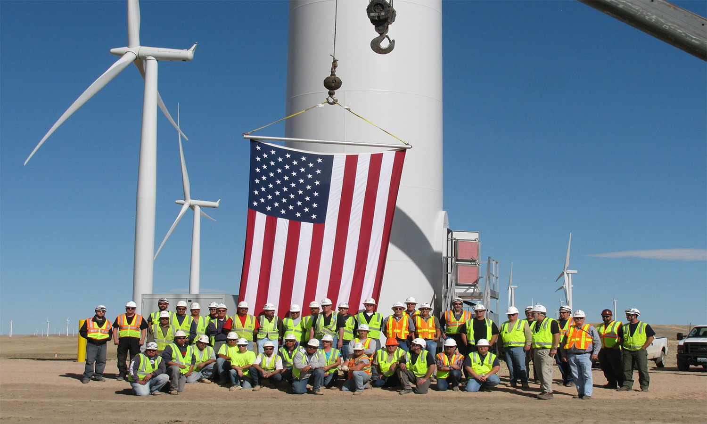 wind farm in caspar wyoming, photo by AWEA