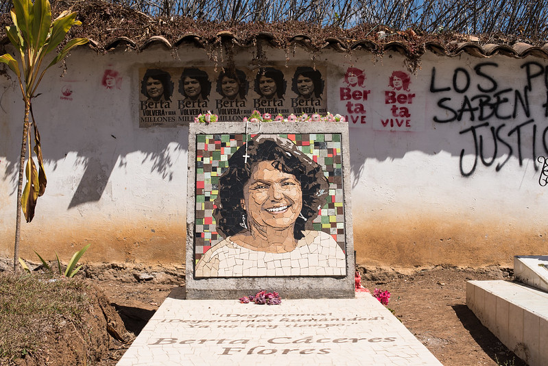 Memorial day: Environmental activist Berta Caceres was killed in her home in March 2016 Photo CC by Trocaire on Flickr.