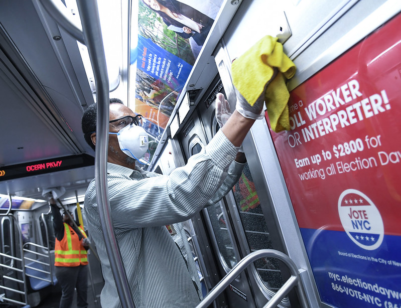 keeping public transit safe - NYC MTA photo by Marc A. Hermann