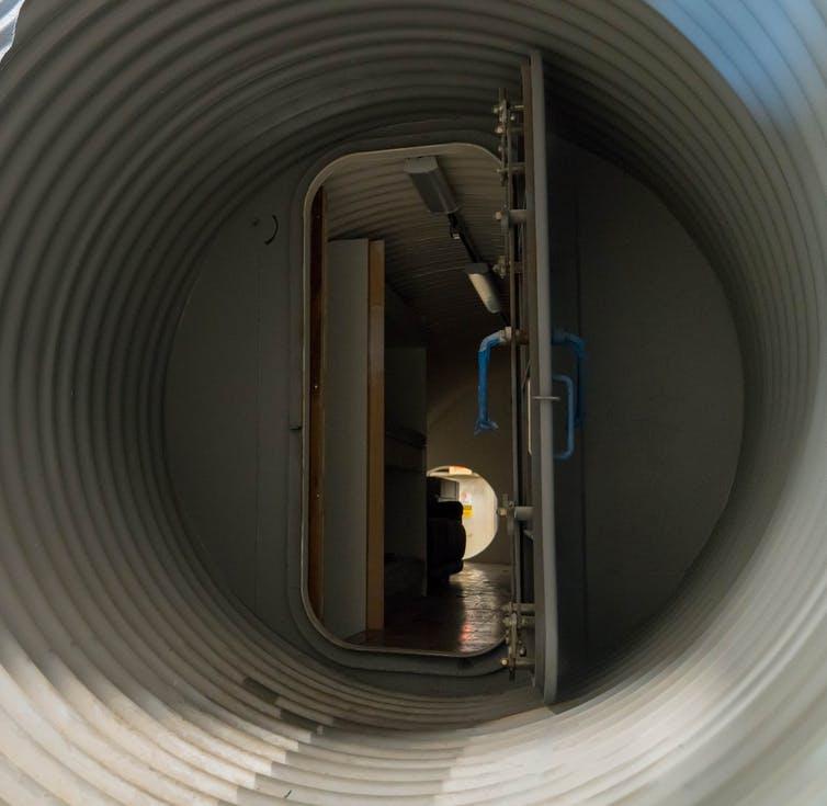 Going underground: heading into an Atlas Shelter in Dallas, Texas. Bradley Garrett, Author provided